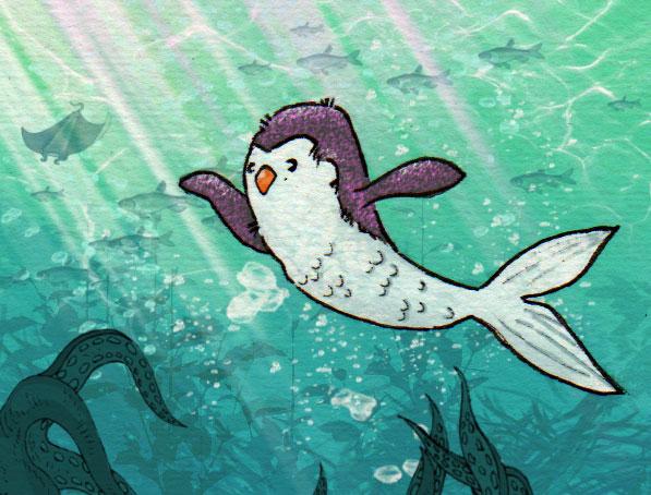 .. ich wollte mal schauen wie ein Meerjungfrau-Pinguin aussieht - so in etwa 😂