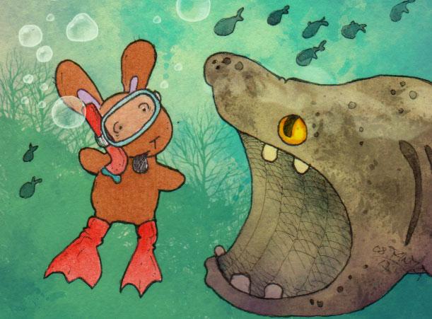 365-Tage-Doodle-Challenge - Stichwort: Fische