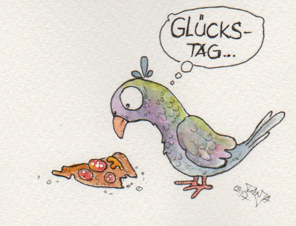 365-Tage-Doodle-Challenge - Stichwort: Pizza
