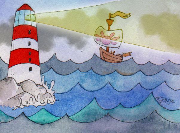 365-Tage-Doodle-Challenge - Stichwort: Leuchtturm