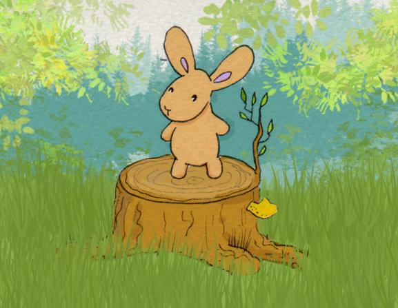 365-Tage-Doodle-Challenge - Stichwort: Baumstumpf