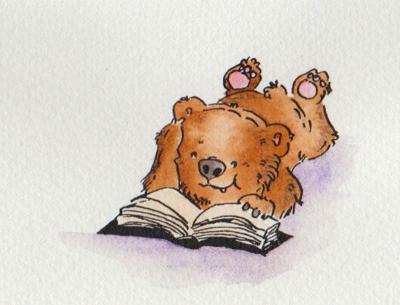 """Aquarellzeichnung zum Stichwort """"Lieblingsbuch"""" für die 365-Tage-Doodle-Challenge."""
