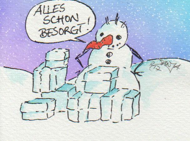 Na? Wer ist so gut vorbereitet wie der Schneemann und hat alle Geschenke bereits besorgt?