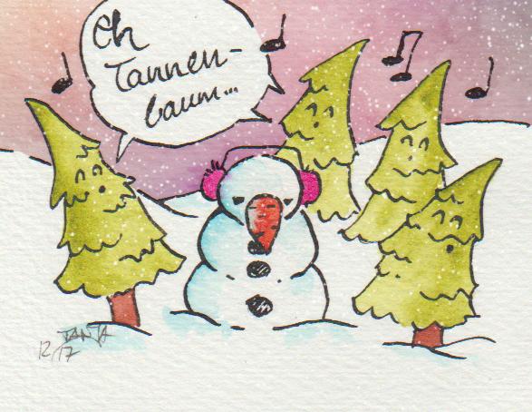 Die Tannenbäume singen dieses Lied sehr gerne.
