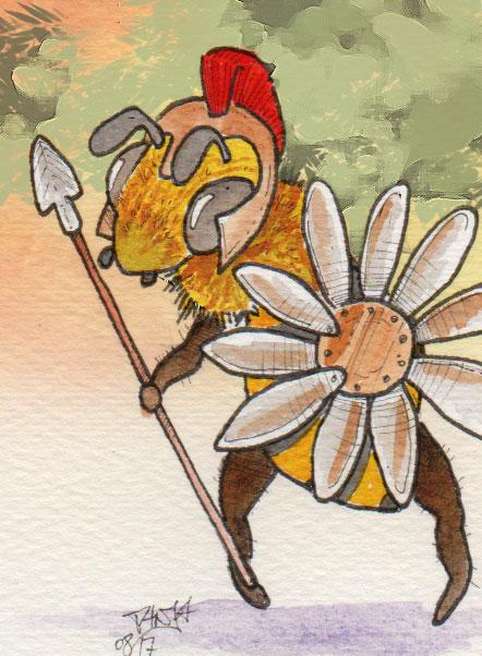365-Tage-Doodle-Challenge - Stichwort: Honigbiene