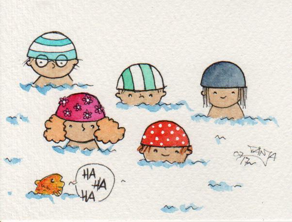 365-Tage-Doodle-Challenge - Stichwort: Badekappe