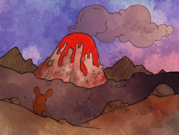 365-Tage-Doodle-Challenge - Stichwort: Vulkan
