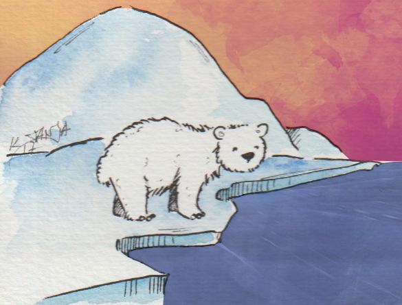 Worauf der kleine Eisbär wohl wartet?