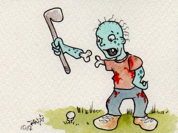 Zeichnung Nummer 277 für die 365-Tage-Doodle-Challenge zum Thema: Golfer.