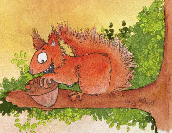 365-Tage-Doodle-Challenge - Stichwort: Eichhörnchen