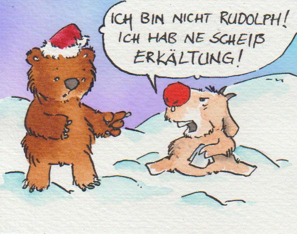"""Zeichnung: .. mal ein etwas anderer """"Rudolf"""""""