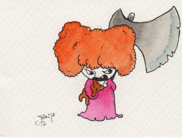 Zeichnung Nr. 282 für die 365-Tage-Doodle-Challenge zum Thema: Lockenkopf