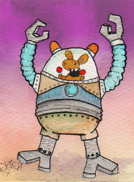 365-Tage-Doodle-Challenge - Stichwort: Roboter