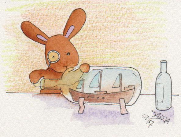 365-Tage-Doodle-Challenge- Stichwort: Wasserflasche