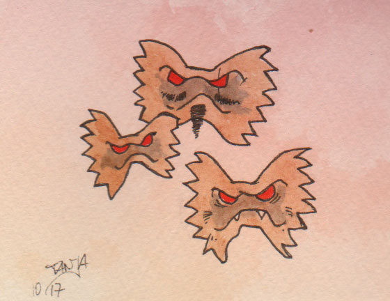 Zeichnung Nr. 278 für die 365-Tage-Doodle-Challenge zum Stichwort: Nudeln