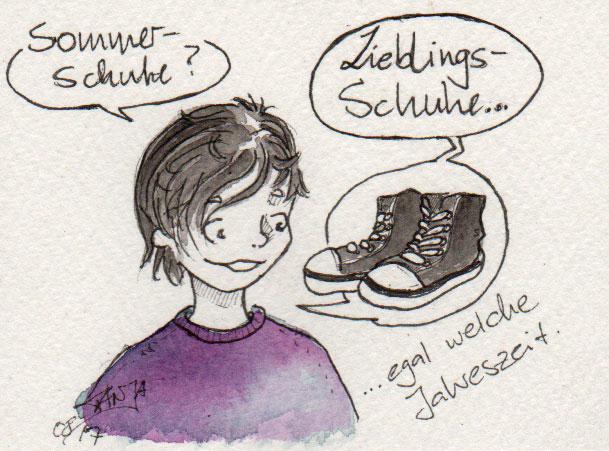 365-Tage-Doodle-Challenge - Stichwort: Sommerschuhe