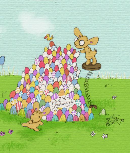 365-Tage-Doodle-Challenge - Stichwort: bunte Eier