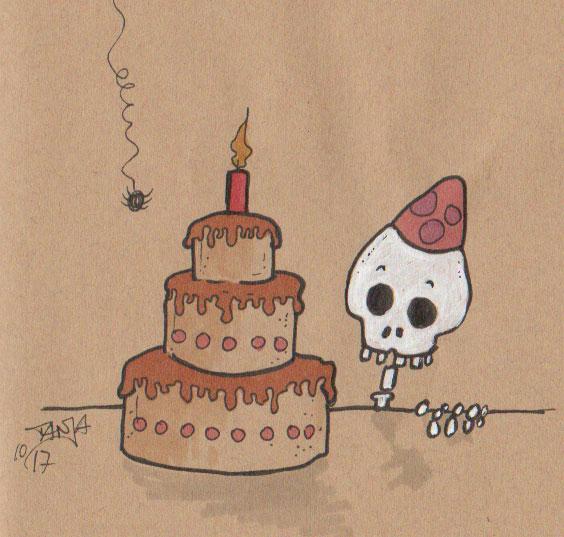 Zeichnung für die 365-Tage-Doodle-Challenge zum Thema: Lieblingstorte.