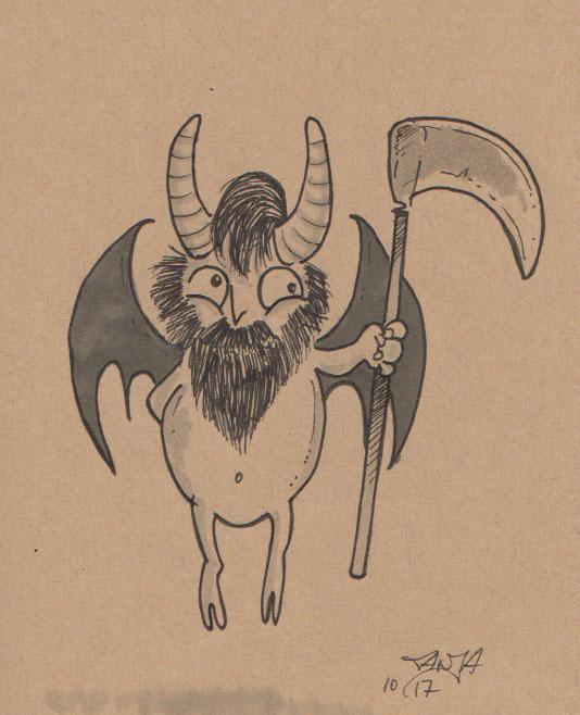 Inktober 2017 - Zeichnung Nr. 08 - Stichwort: Teufel