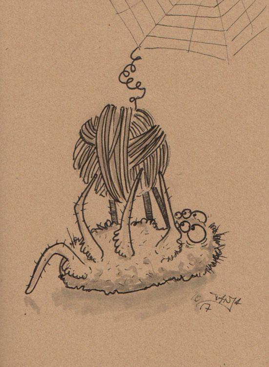 Inktober 2017 - Zeichnung Nr. 06 - Stichwort: Spinne