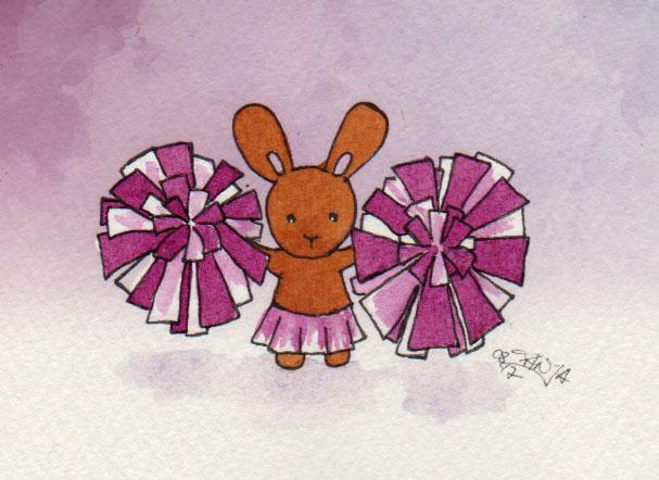 365-Tage-Doodle-Challenge - Stichwort: Cheerleader