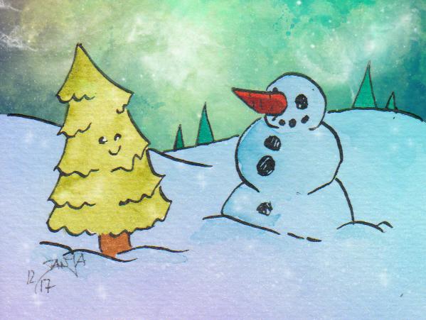 Es gibt nichts schöneres als glitzernder Schnee und eine sternenklare Nacht.