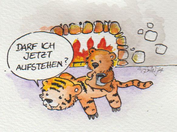 """Zeichnung zum Thema """"Kaminfeuer"""" für die 365-Tage-Doodle-Challenge."""