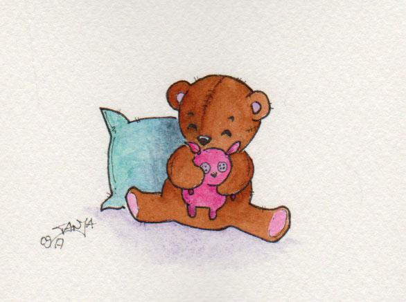 365-Tage-Doodle-Challenge - Stichwort: Teddybär