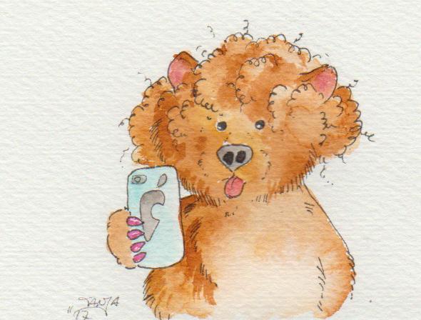 Zeichnung für die 365-Tage-Doodle-Challenge zum Thema: Selfie.