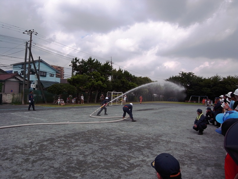 消防団操法訓練