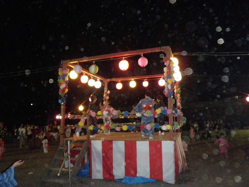 自治会祭り 舞台