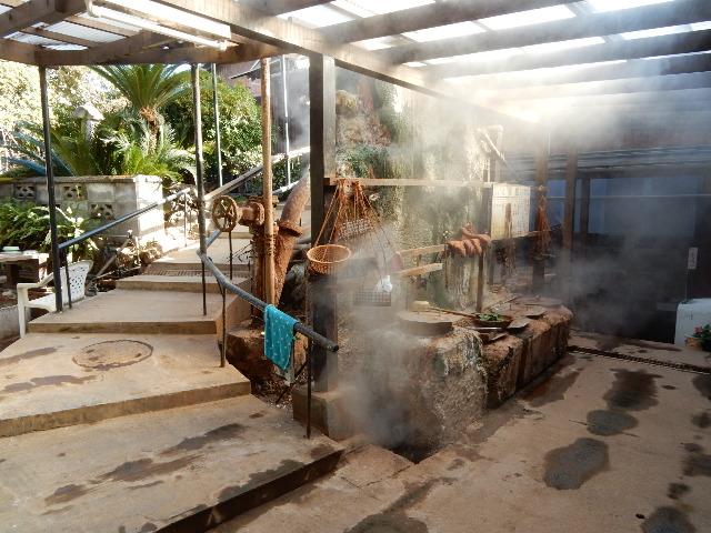 鉄輪温泉、双葉荘の地獄釜