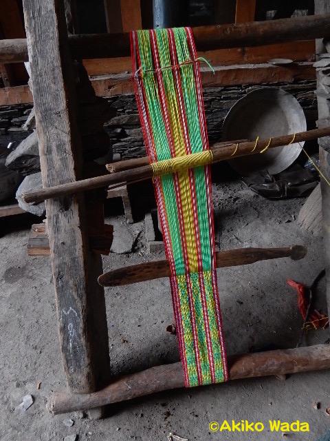 ゴシニック(七五三に似た行事)祝い用の飾り織り
