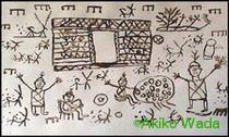 カラーシャの少年が描いた絵
