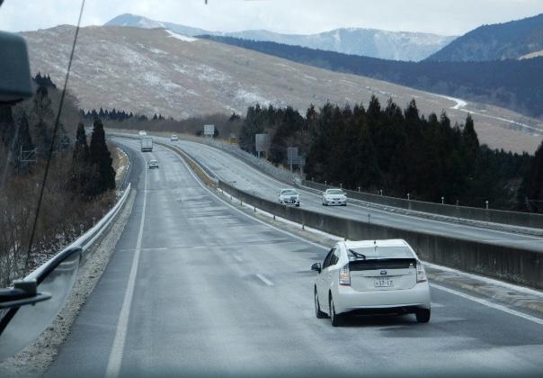 帰路の高速バスから見た扇山?
