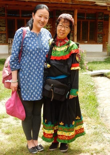 イギリスのツアーに参加した上海生まれでアメリカ国籍のアイダさん。大手の製薬会社で働い