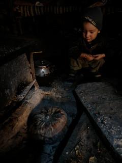 マンダイック(お盆)には大きなかぼちゃを灰の中で蒸し焼きする。
