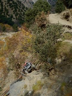 11月23日、バラングル村の上流、発電所の近くで転落事故が起こった。