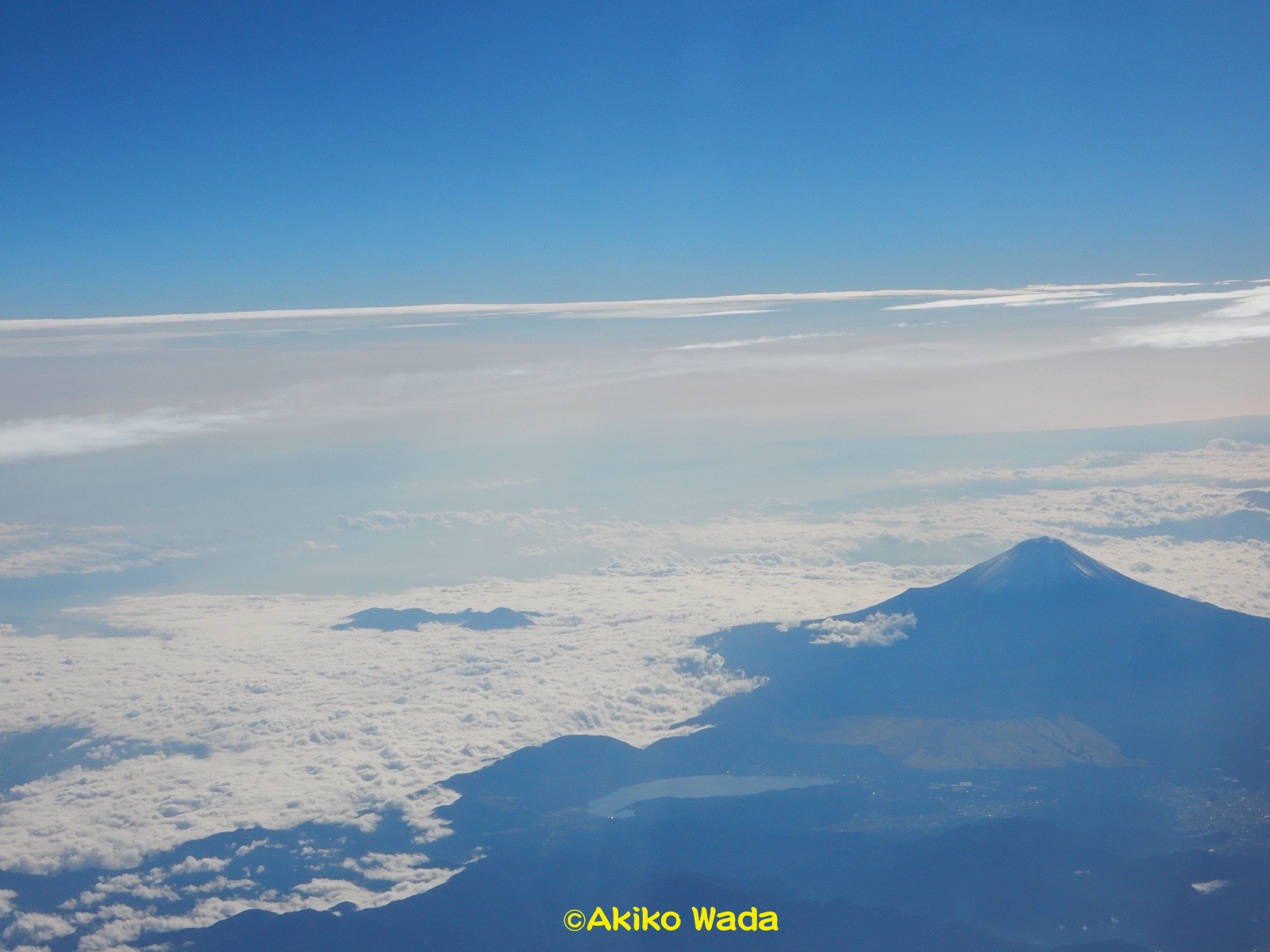 運良く、富士山も見えた。