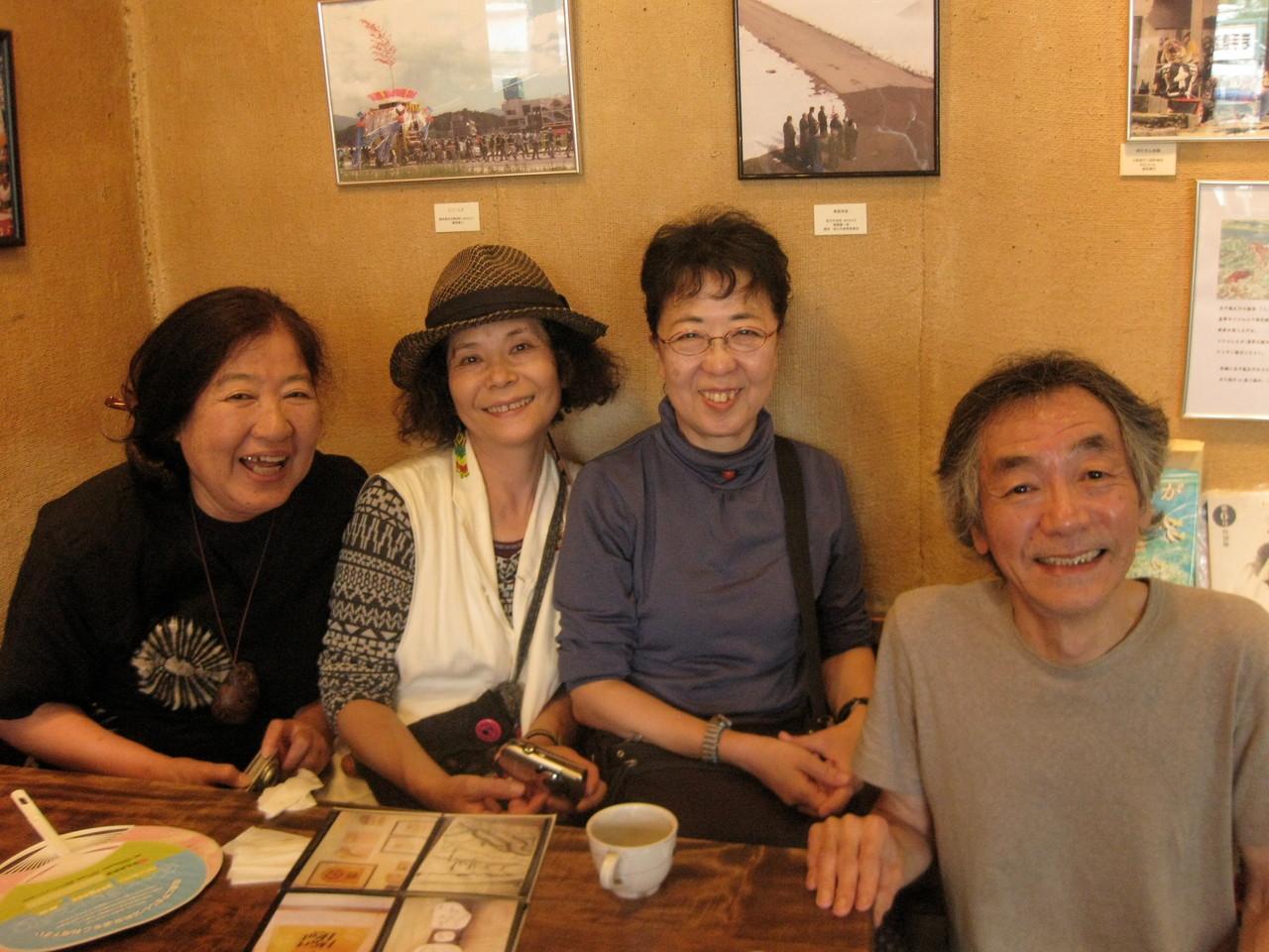 コーヒー店「クランボン」のマスターとは40年前からの友達です。30年ぶりぐらいに会った。
