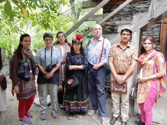 PPAF(Pakistan Poverty Alleviation Fund)のGMとスタッフ、そのスポンサー イタリア大使館の方々と。