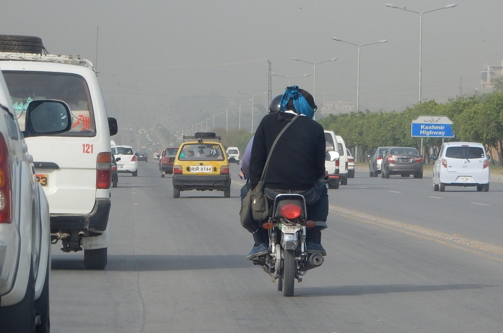 イスラマバードも大気汚染が来ている。