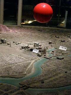 原爆ドームの上空で原爆は炸裂した。