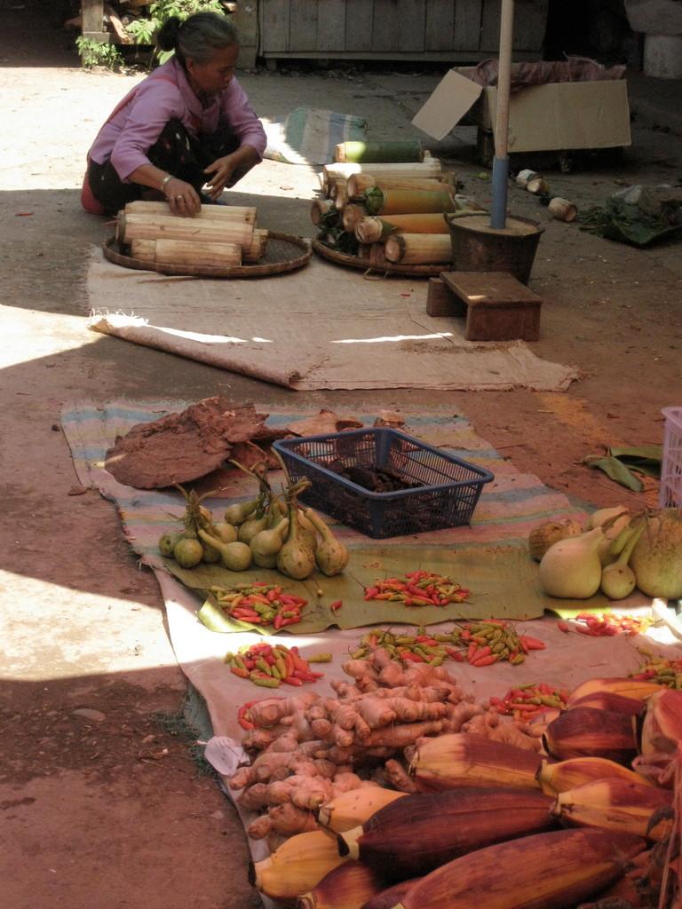 バナナの花などのローカル色の強い食材