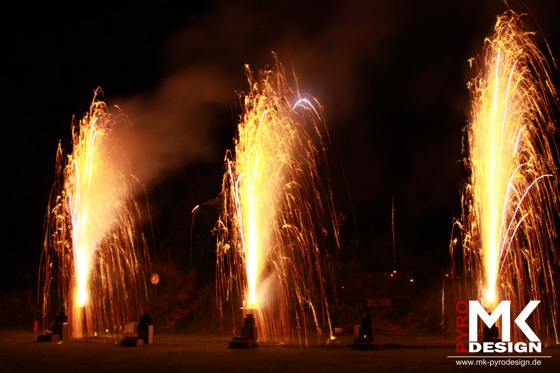 Feuerwerk zur Hochzeit Bruchsal