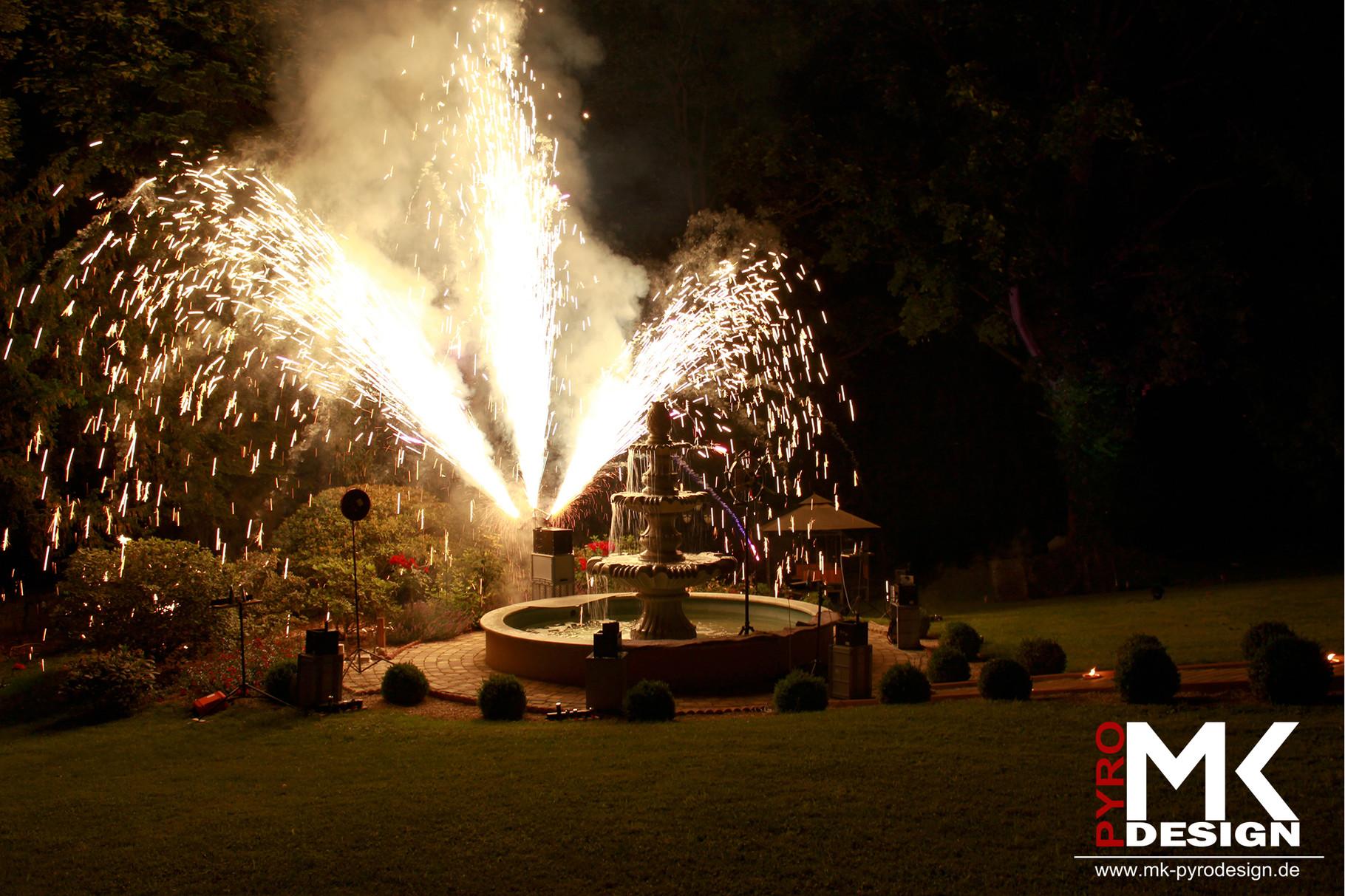 Hochzeitsfeuerwerk Schloß Mühlhausen