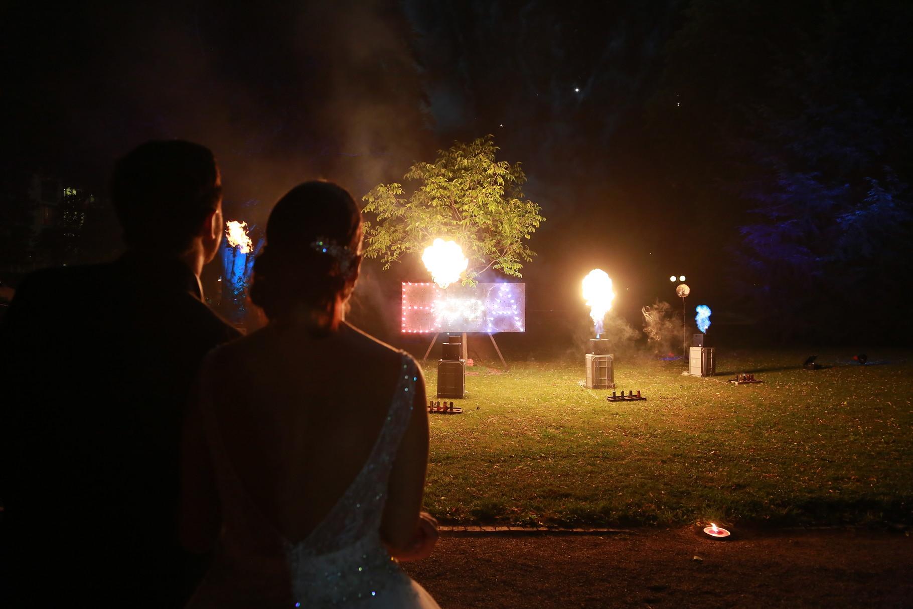 Feuerwerk zur Hochzeit