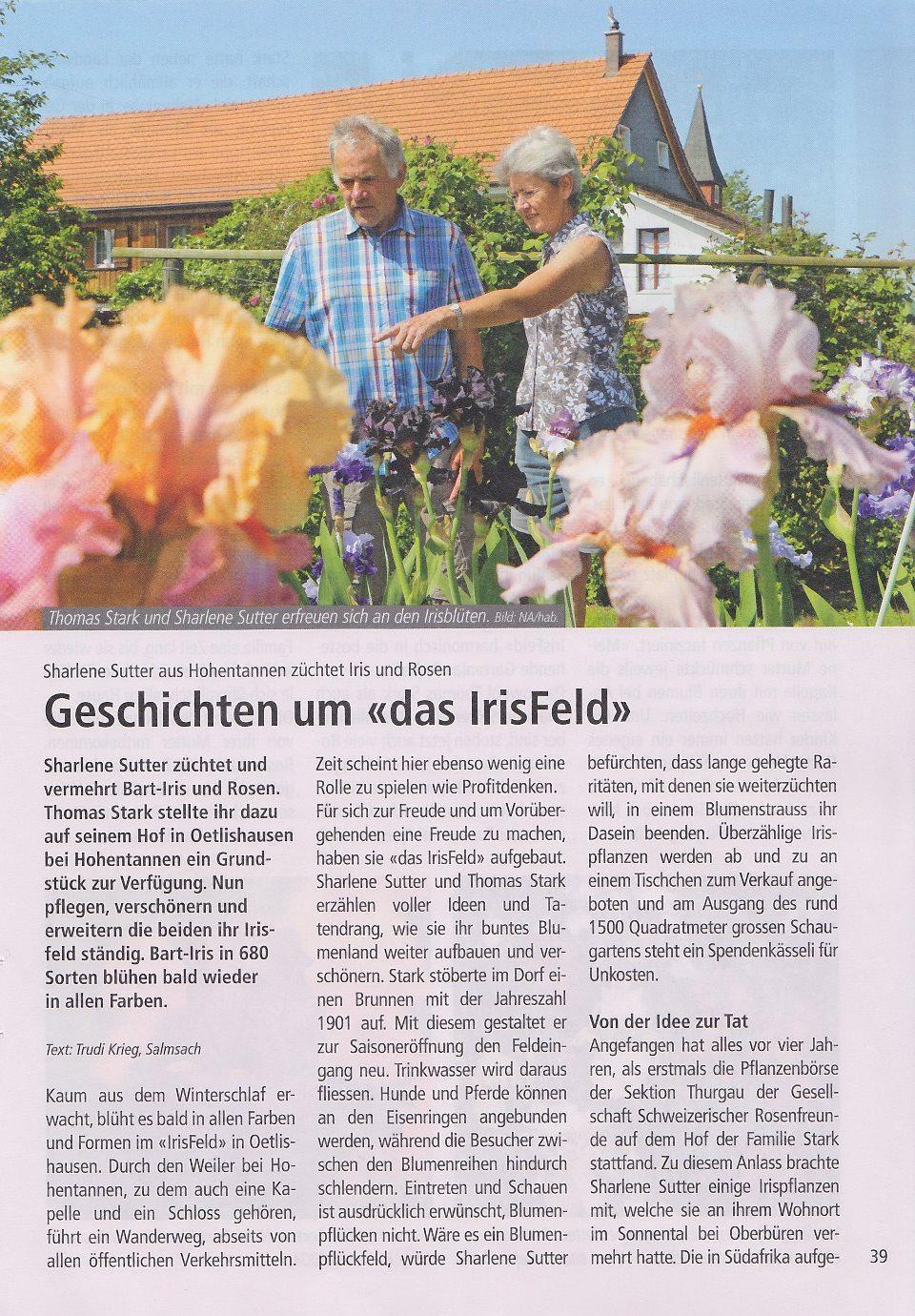 St. Galler Bauer  - Nummer 10 - 12. März 2021, Seite 39 - Geschichten um 'das IrisFeld'