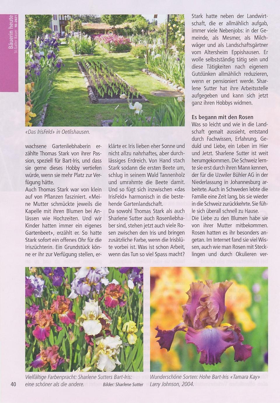 St. Galler Bauer  - Nummer 10 - 12. März 2021, Seite 40 - Geschichten um 'das IrisFeld'