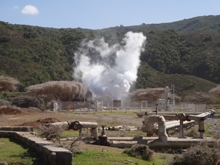 Geothermal Power plant in Aluto Langano, Ethiopia